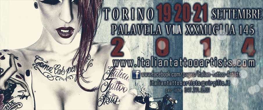 #events (20/09/14): Italian Tattoo Artists, Tattoo Expo Torino (Storie, emozioni, tatuaggi)