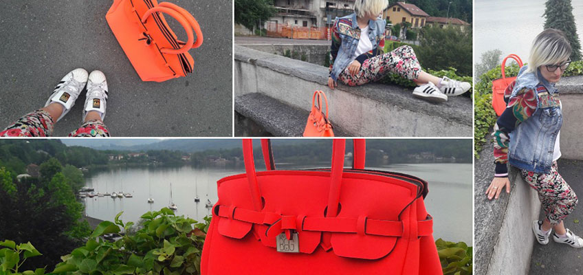 Save My Bag Fluo & The Color Explosion (Il mio look colorato in una giornata grigia)