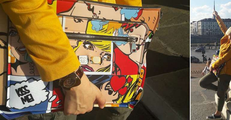 Pop Art Bag (La borsa di Save My Bag e il mio look per l'evento Shopping Borgo Po)