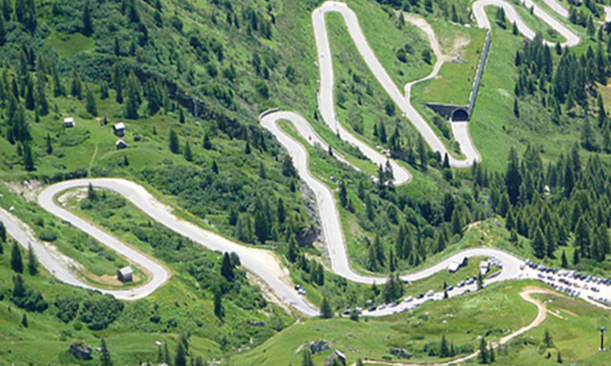 The Dolomite Road (Strada delle Dolomiti) is one of the 5 Best Road Trips In Italy, long 100 km from Bolzano towards Cortina d'Ampezzo.