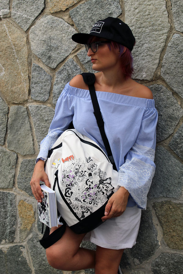 Look da back to school con l'agenda e lo zaino ME - My Evolution (Foto di Emanuela Trossero)