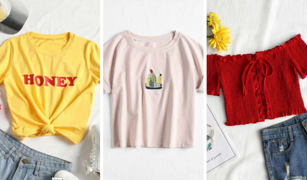 T-shirt e crop top sono il must have estate 2018 e non solo, coloratissime e versatili
