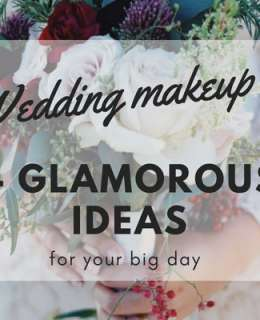 The big day is coming and it's time to think about your look. Here you are 4 ideas for a glamorous wedding makeup. So, get ready and shine