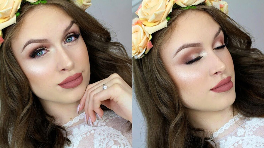 Get inspired from boho style and create your wedding makeup