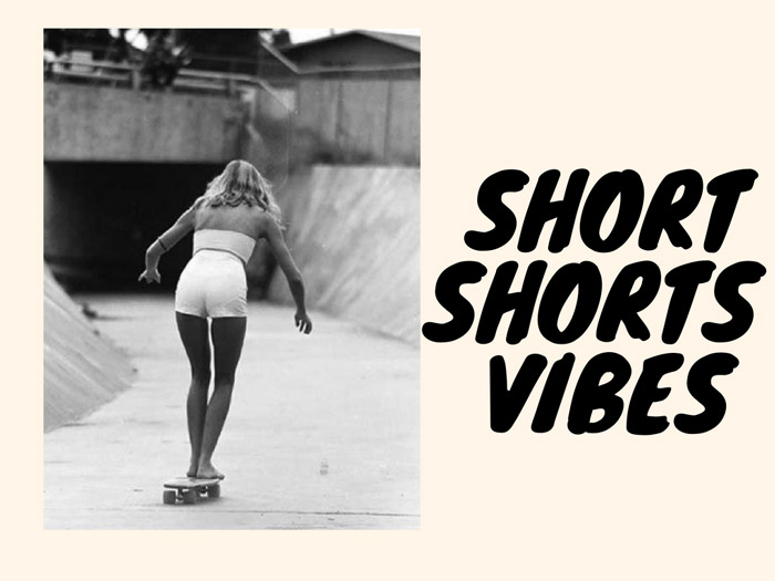 High-waisted short shorts are a real must for the perfect 70s California girls outfit